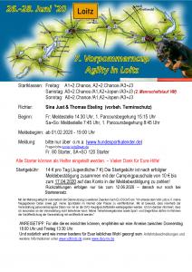 Einladung Agility Turnier 2020